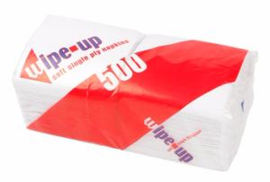 WHITE NAPKINS 1ply (500 per pack)
