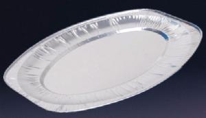 "FOIL PLATTER 35cm long 14"" approxl. (pack of 5)"