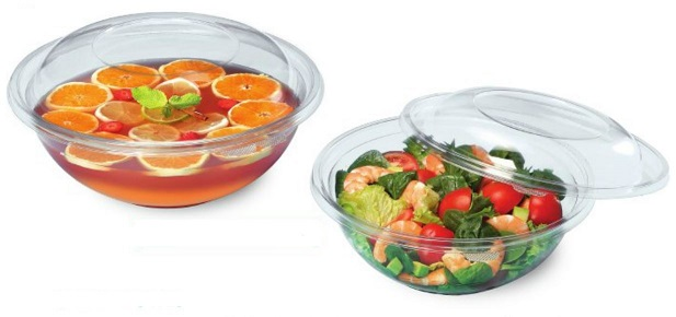 FESTIPACK SL4500C CLEAR ROUND SALAD BOWL (Lids available separately)
