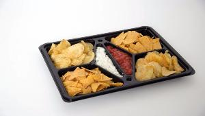 RECTANGULAR DIPPING PLATTER COMPLETE WITH CLEAR LID