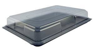LARGE RECTANGULAR SANDWICH PLATTER COMPLETE WITH CLEAR LID