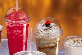TEN - 12oz CLEAR SMOOTHIE CUPS, DOMED LIDS AND SMOOTHIE STRAWS