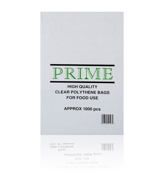 "CLEAR POLYTHENE BAGS 175 x 225mm (7"" x 9"" approx.) - 100 gauge (pack of 1,000) SUITABLE FOR FOOD USE"