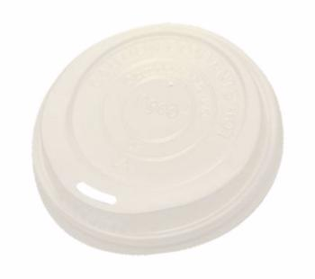 10 oz Sip Through Lid for Biodegradable Paper Cups (Pack of 50)