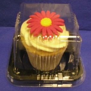 CUPCAKE BOX COMPLETE WITH CLEAR LID