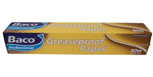 "Bako Professional Greaseproof Paper  380mm (15"" approx.) x 50 Metres"